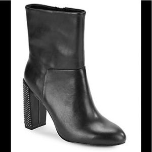 H by Halston Lea studded booties